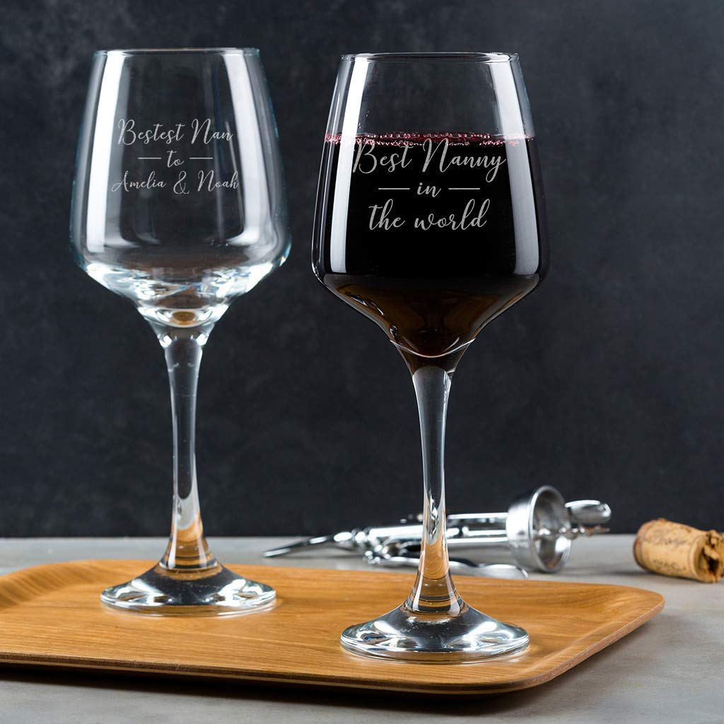 Gift For Nan Personalised Engraved Wine Glass