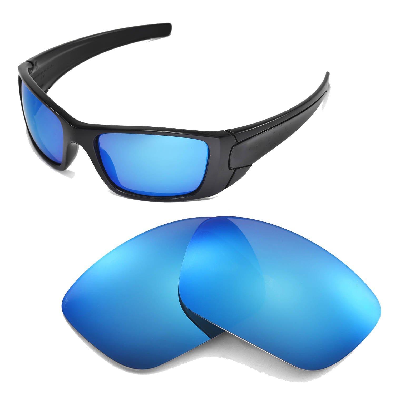 Walleva Ersatzgläser für Oakley Fuel Cell Sonnenbrille-Mehrfache Optionen (Feuerrot Mirror Coated - Polarisiert) iHqe824dMp