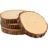 Meritage Natural Acacia Rustic Handmade Wood Coaster Sets
