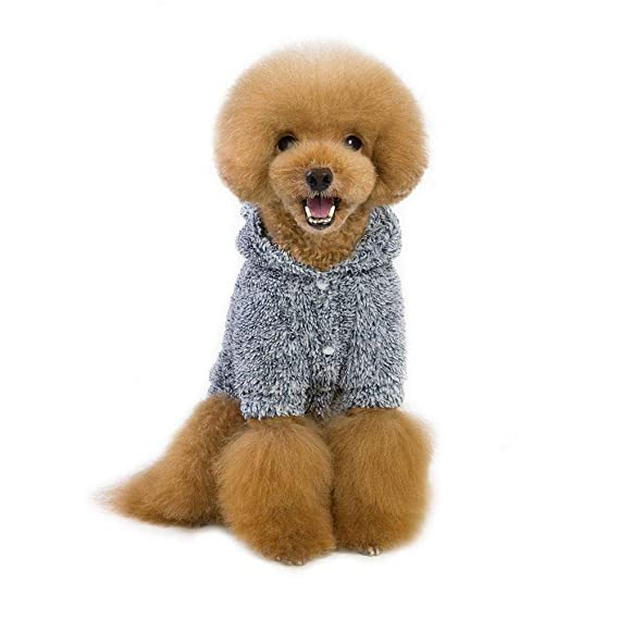 79c6cb7196e2d Amazon.com : Yinrunx Pet Autumn & Winter Coats Solid Color Costume ...