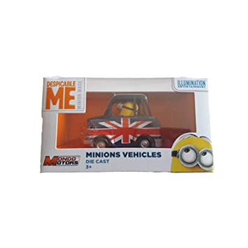 MeCoche Despicable Minion Con Bandera JugueteRetroMini De WEH2Y9DI