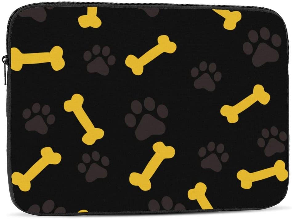 Laptop Case,10-17 Inch Laptop Sleeve Carrying Case Polyester Sleeve for Acer/Asus/Dell/Lenovo/MacBook Pro/HP/Samsung/Sony/Toshiba,Dog Paw Prints Bone 17 inch