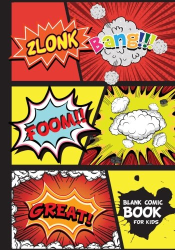 Comic Books For Kids : 7 By 10 Over 100 Page - Blank Comic Book 5 Panel Stagger Jagged - Drawing Your Own Comic Book Journal Notebook (Blank Comic Book) Vol.4: Blank Comic Books (Volume 4)