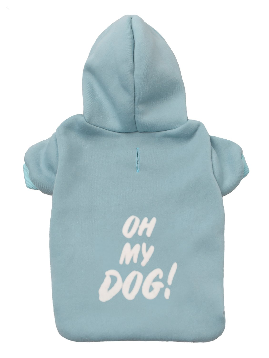 Light bluee 2X-Large Light bluee 2X-Large GENOME CODE Pet Clothes Puppy Hoodie Sweater Dog Coat Warm Sweatshirt Oh My Dog Printed Shirt Costume