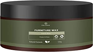 Furniture Wax by Cura Lignum I 8.45 Fl Oz I Restorer and Protector for Your Wood Furniture I Crafted with Linseed Oil and Carnauba Wax for a Polished Finish I Alternative to Wood Oil & Cream