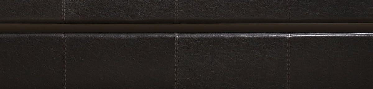 Homelegance 4950 Daybed with Trundle, Dark Brown Bi-Cast Vinyl