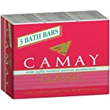 Camay Classic 3 Bath Bars Per Package * With Softly Scented Natural Moisturizer