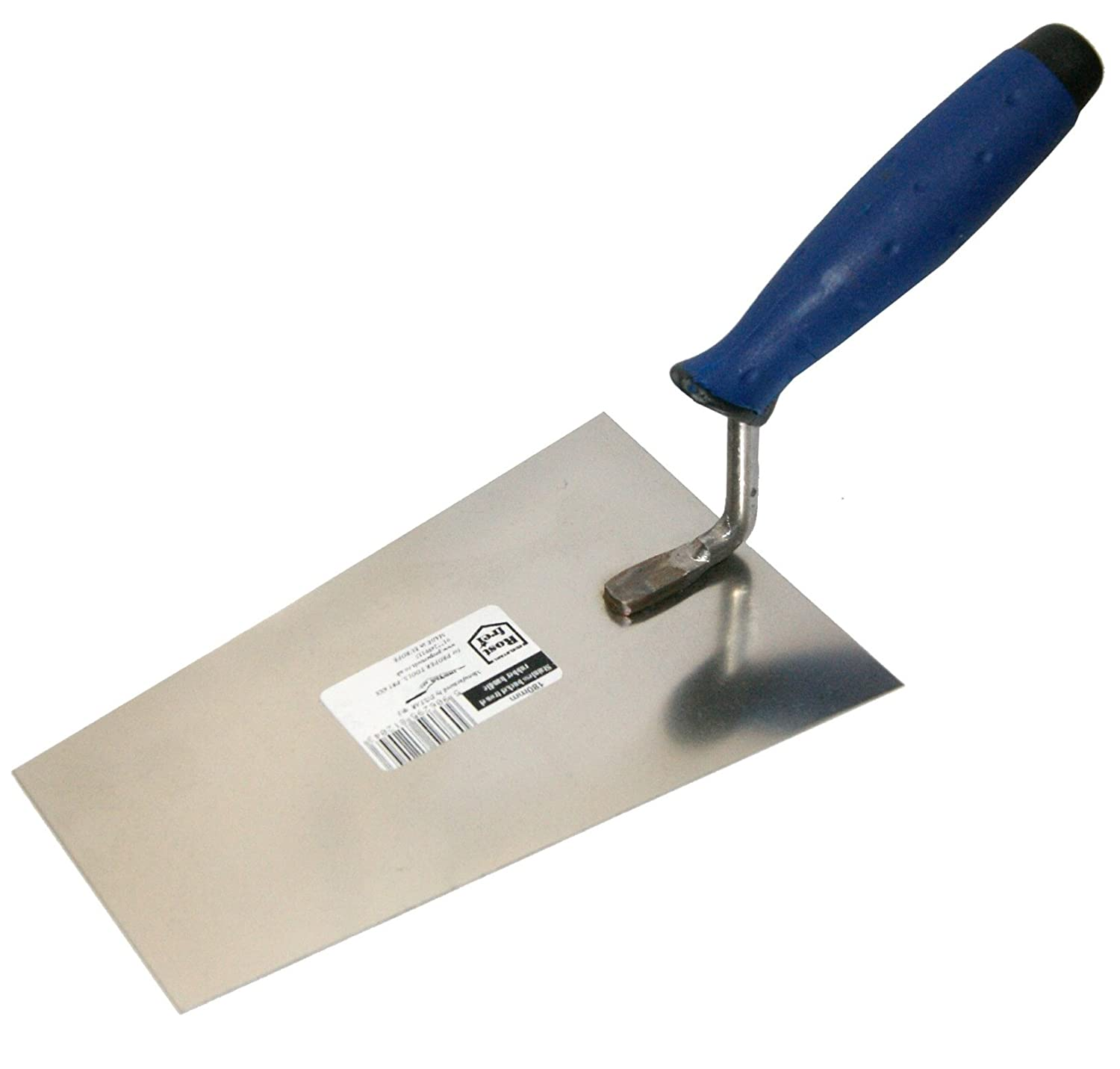 Bucket Trowel 180mm (7') Rubber handle. Stainless Steel (1204) Instar 180mm stainless steel rubber