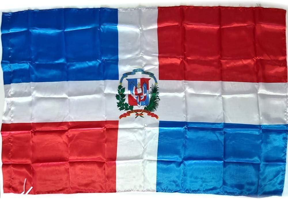 BANDERA REPUBLICA DOMINICANA GRANDE 150 Cm 1,5 Metros: Amazon.es ...