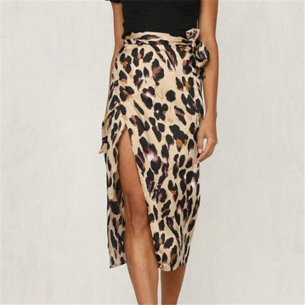 DAHDXD Falda para Mujer Moda Falda con Cordones con Estampado de ...