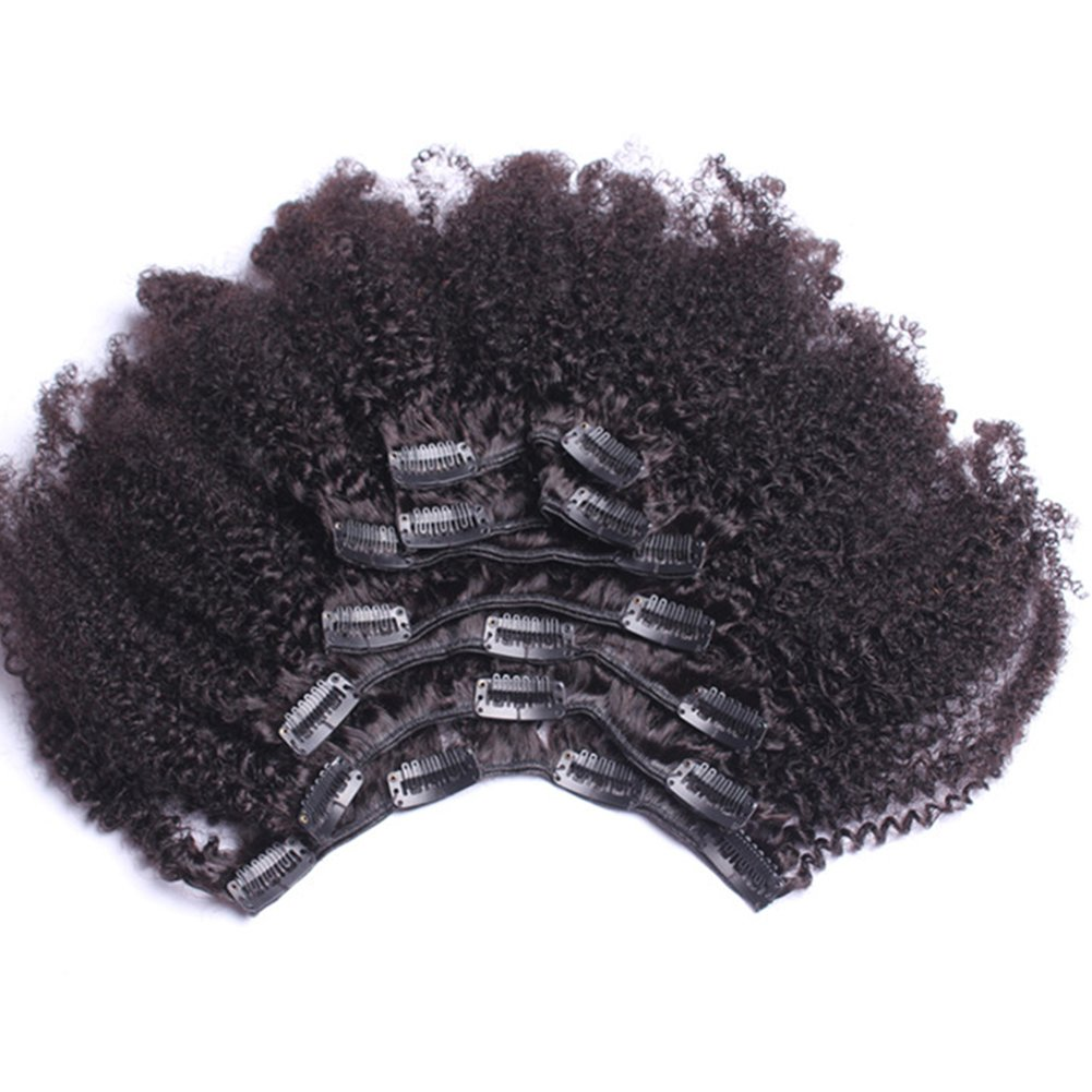 Amazon Afro Kinky Clip In Extensions Natural Hair 100