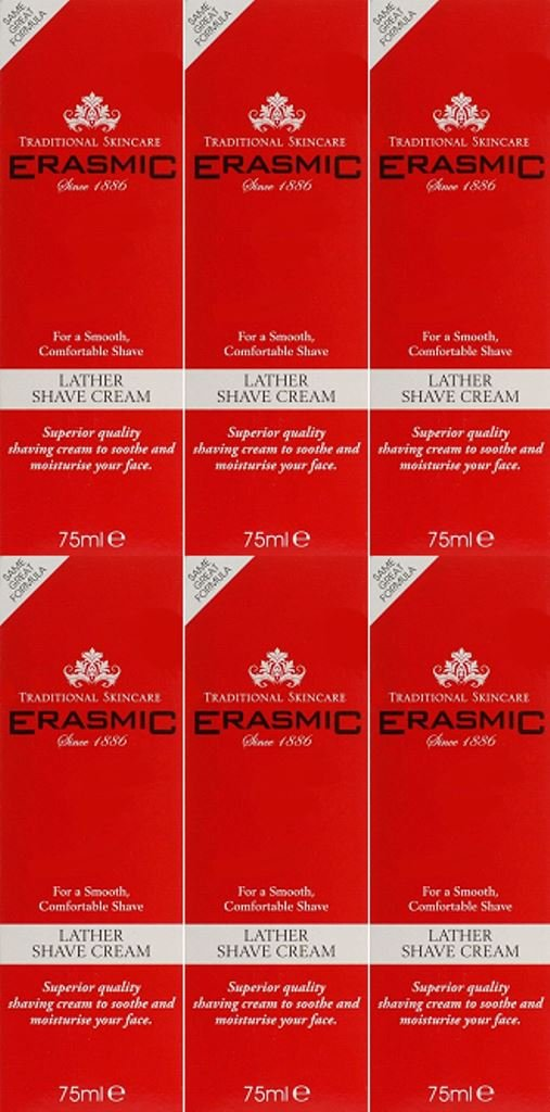 Erasmic Lather Shave Cream 75ml x 6 Packs