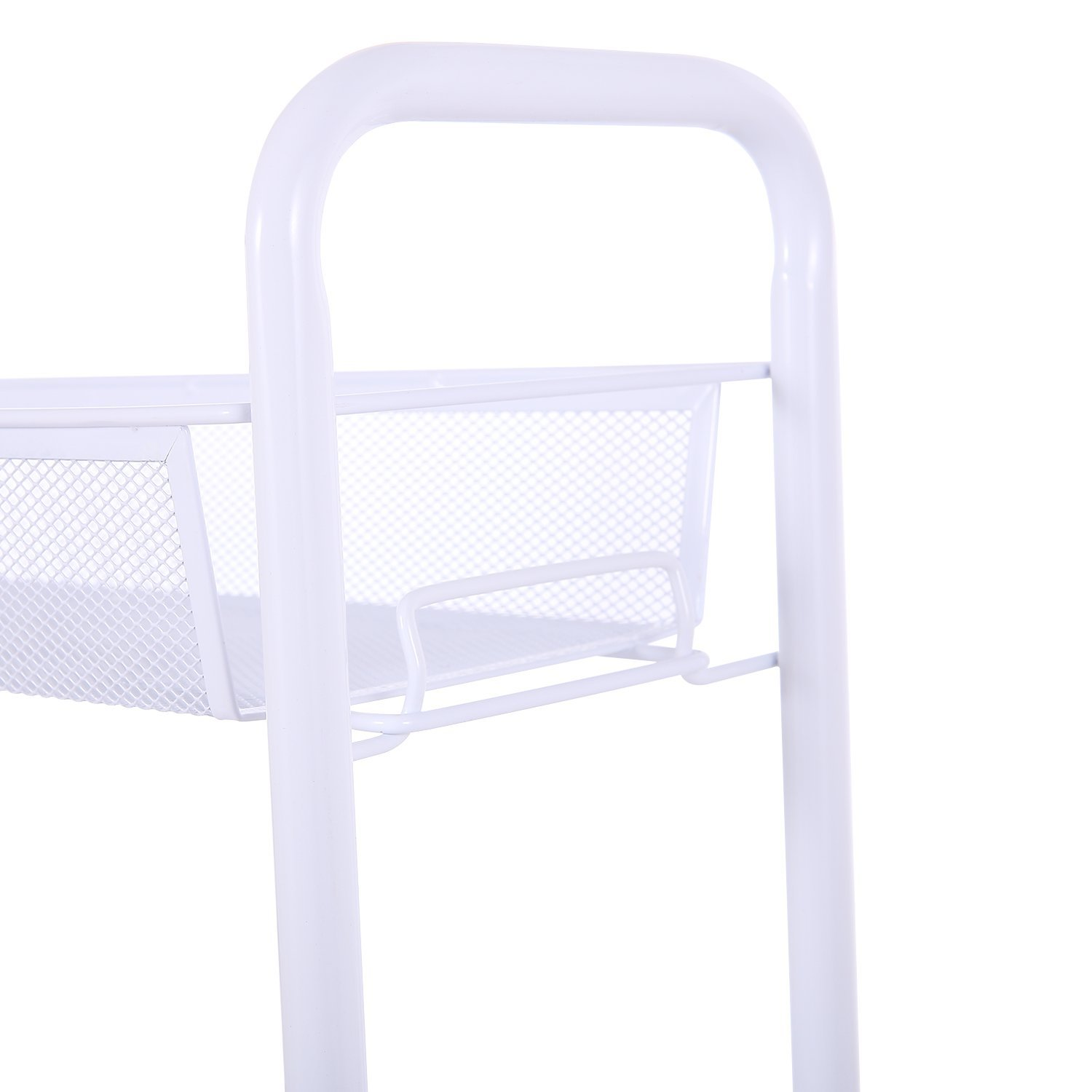 Amazon.com: 3 Tier Slim Storage Cart   Slide Out Metal Mesh Rolling Tower  For Narrow Space Organization Of Laundry, Bathroom, Kitchen, Pet Closet    White ...