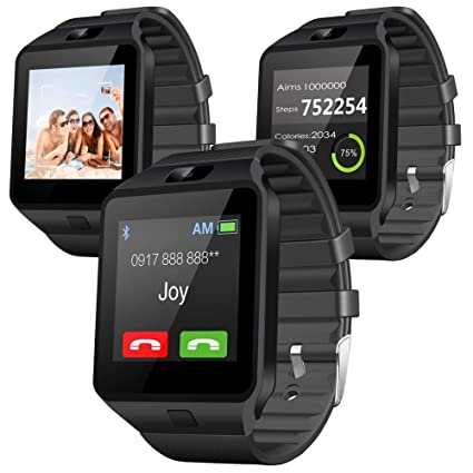 ZED BONE™ Smart Watch DZ09 Phone With Camera and Sim Card & SD Card Support  With Apps like Facebook and WhatsApp Touch Screen multilingual Android/IOS