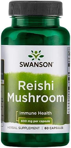 Swanson Reishi Mushroom 600 Milligrams 60 Capsules