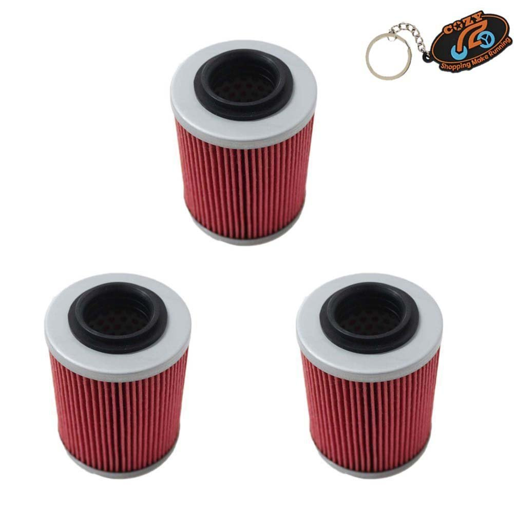 Cozy Pack of 3 Oil Filter fit for CAN-AM COMMANDER BOMBARDIER OUTLANDER MAX 330 400 650 800 500 1000 DS650 DS650X BAJA Replace HF152 /& KN152