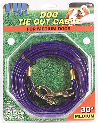 Coastal Pet Products DCP89053 Titan Dog Medium Tie Out Cable, 30-Feet