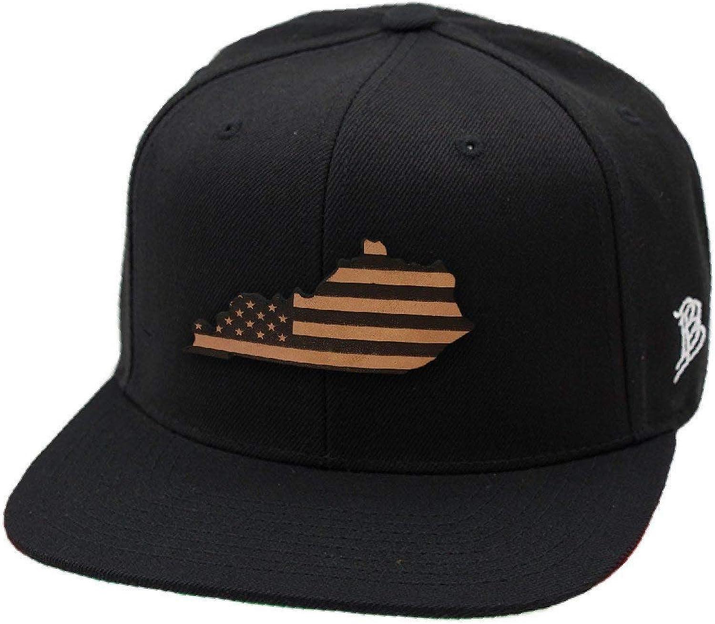 Branded Bills Kentucky Patriot Leather Patch Snapback Hat OSFA//Black
