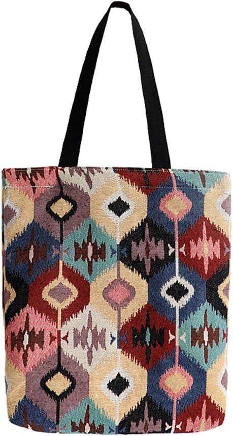 Women/'s Ladies Linen Shoulder Shopping Tote Beach Satchel School Handbag Bags