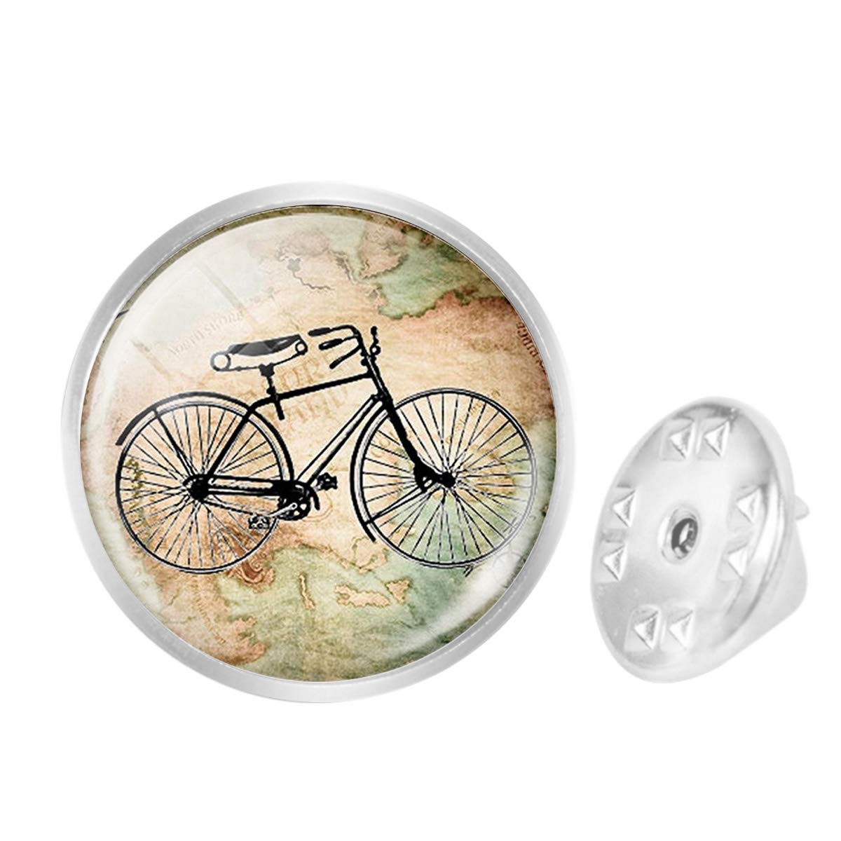 Custom Lapel Pin Brooches Vintage Bicycle Map Banquet Badge Pins Trendy Accessory Jacket T-Shirt Bag Hat Shoe