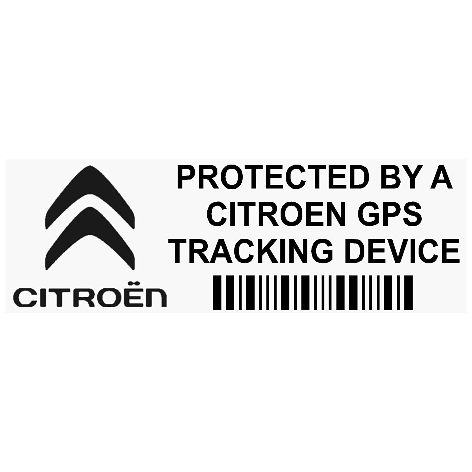 Platinum Place 5 x PPCITREONGPSBLK GPS BLACK Tracking Device Security WINDOW Stickers 87x30mm-Car, Van Alarm Tracker