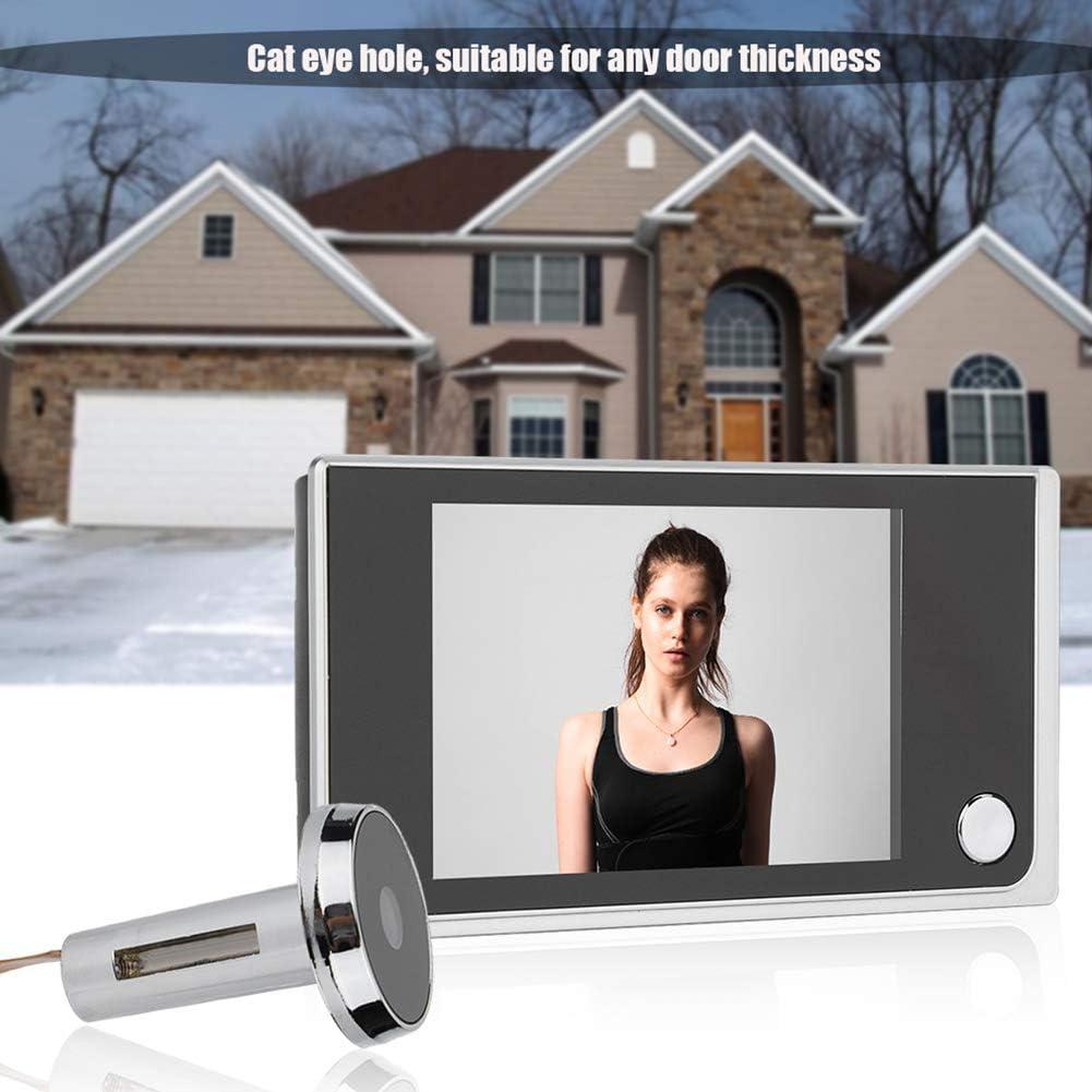 Visor Digital de Puerta Mirilla LCD Ultra Delgada de 3.5 Pulgadas con C/ámara Electr/ónica de Ojo de Gato de 120 Grados para Seguridad en el Hogar F/ácil de Instalar