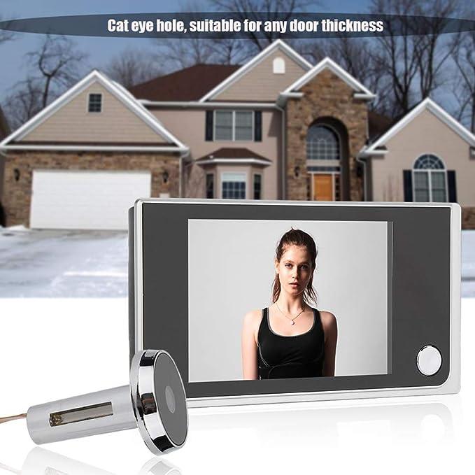 mirilla con pantalla a color c/ámara oculta para la seguridad del hogar y la oficina mirilla de p/íxeles de alto pixel Mirilla de v/ídeo digital antirrobo Aixgxt