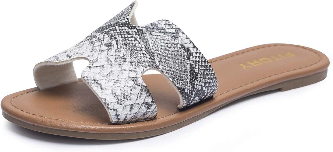 Damen Flach Elegant Sandalen mit Strass Peeptoe Sommer Glitzer Schuhe Gold&Silber Gr. 36 41