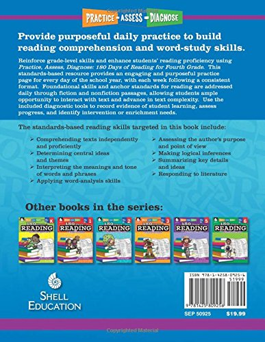 Amazon.com: 180 Days of Reading for Fourth Grade (180 Days of ...