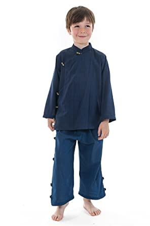 fdf91b4206597 FANTAZIA Chemise Enfant Ethnique Bleu Bacca -  Amazon.fr  Vêtements et  accessoires