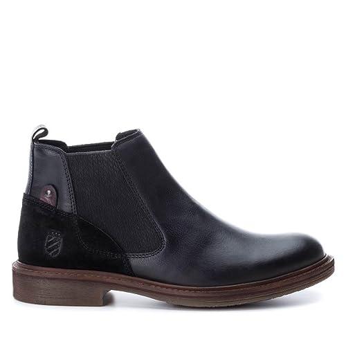 Carmela 065742 Botín De Hombre 065742 PIEL Hombre Negro 45: Amazon.es: Zapatos y complementos