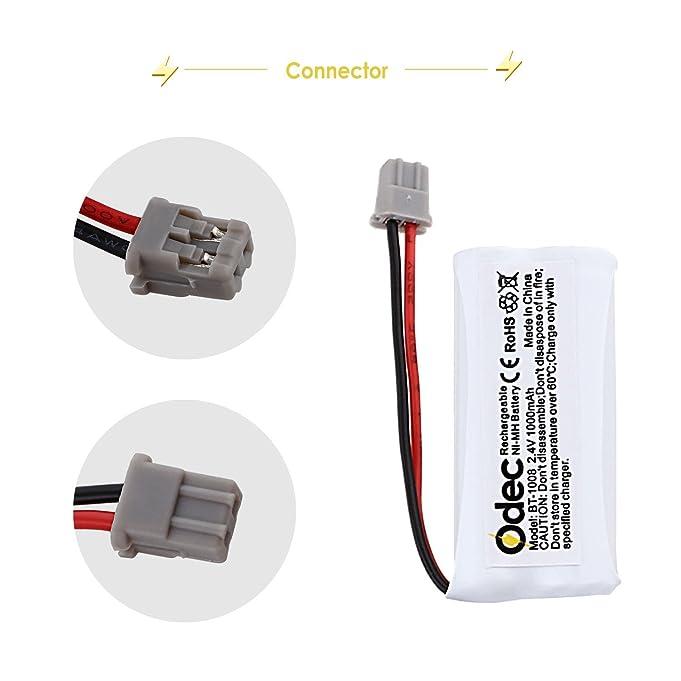 Odec Compatible BT1008 Phone Battery 4 Pack Rechargeable Cordless Phone Batteries 2.4V 1000mAh for BT-1008 BT1016 BT1021 DECT2080 DECT20803 Empire CPH-515B CPH515B