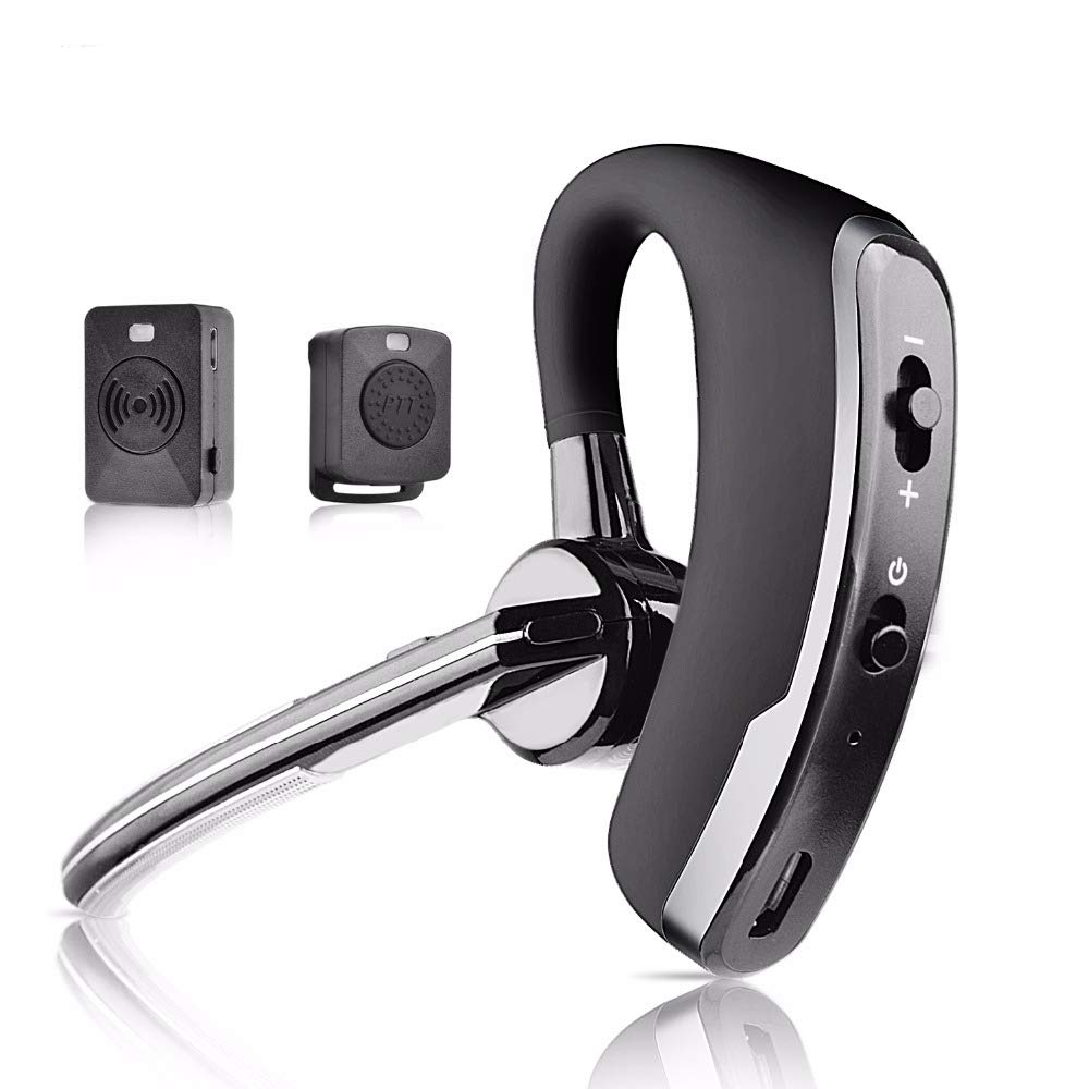 Fumei Walkie Talkie Bluetooth Headset and Wireless Talkie Dongle Adapter Wireless Finger PTT Key for Kenwood Baofeng HYT All K-Plug Two-Way Radios