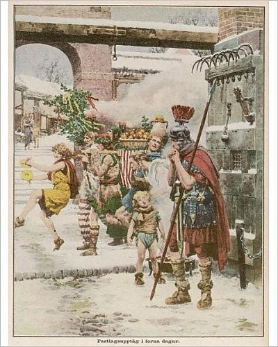 Photographic Print Of Roman Soldier On Guard