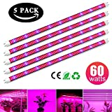 Cheap [5Pack] 60W Led Grow Light Tube, EnerEco T8 Plant Light Bar Red/Blue Spectrum for Greenhouse Hydroponic Indoor Plant Garden Growing Flowering, AC85-265V
