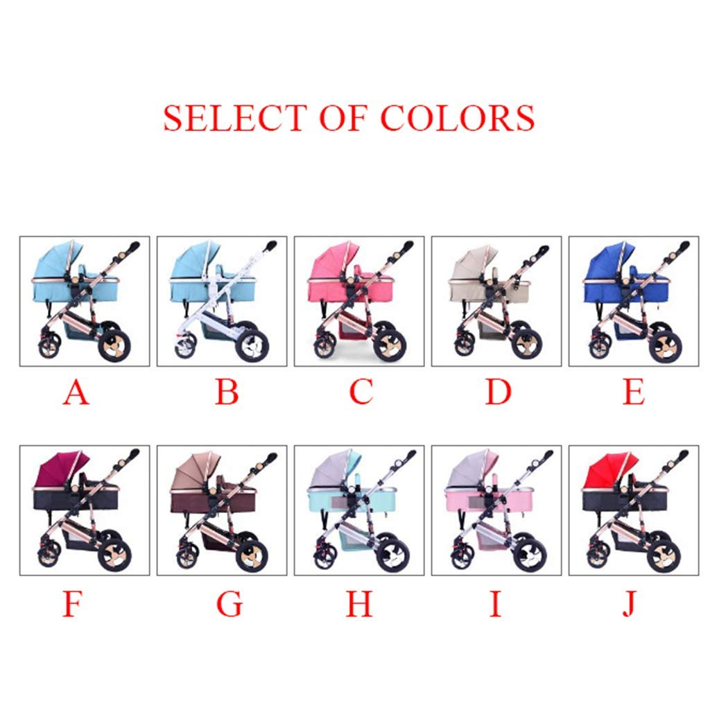 High Landscape Baby Stroller, Newborn Infant Pushchair Travel System Suitable from Birth to 36 Months - 37 90 90 cm by Baby carriage (Image #5)