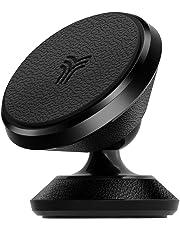 YOSH Supporto Auto Smartphone Magnetico -Garanzia A Vita- 360° Gradi Adesivo Cruscotto Supporto Telefono Porta Cellulare Auto per iPhoneX/XR/8/7/6 plus,Samsung S8/9/10, LG, Huawei GPS e MP3 (Pelle)
