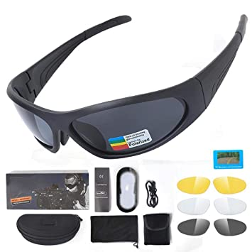 Ludage Buena Gafas de Deporte Escalada táctica Gafas polarizadas Gafas de Prueba de Impacto náuticas conducción al Aire Libre: Amazon.es: Deportes y aire ...