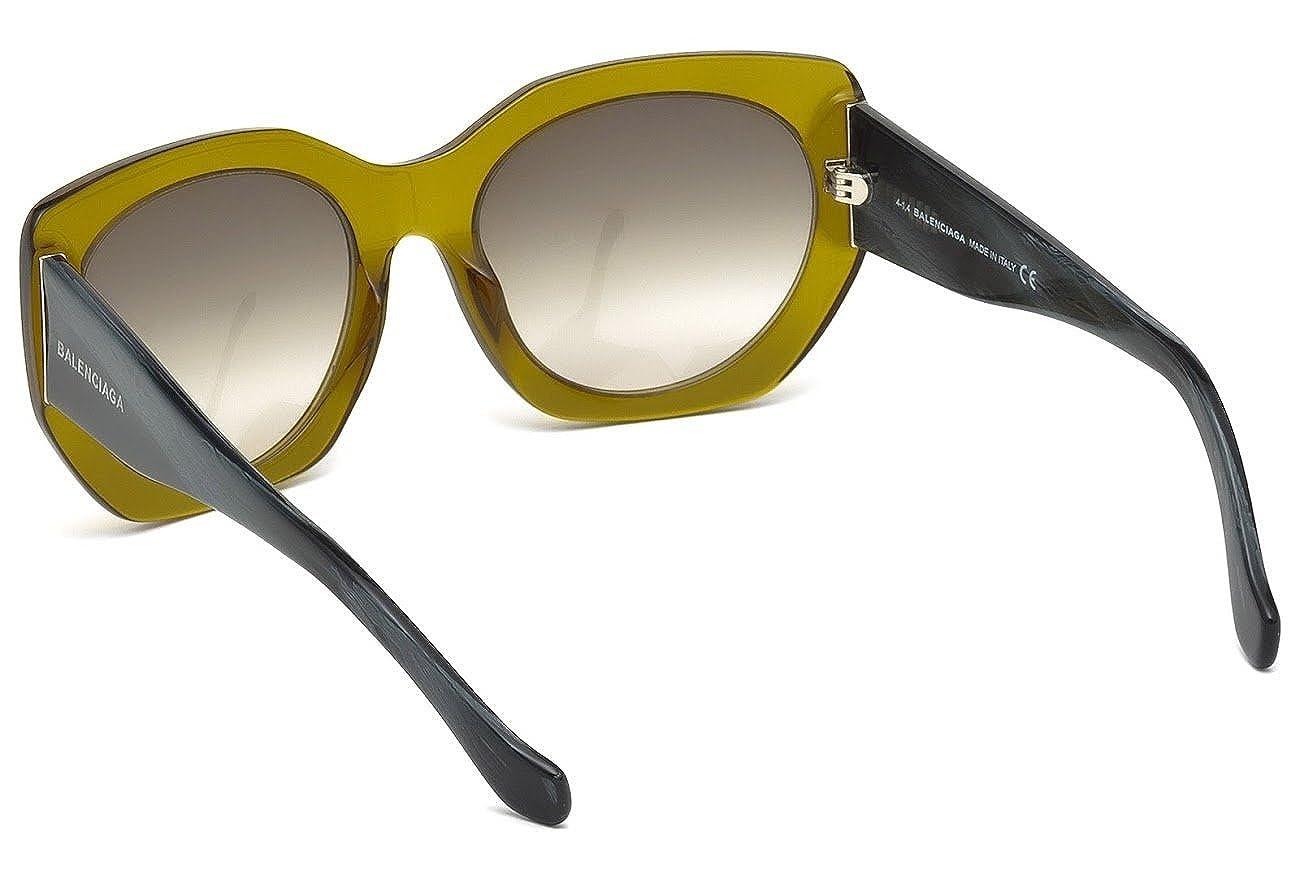 Sunglasses Balenciaga BA 17 BA0017 96B shiny dark green gradient smoke