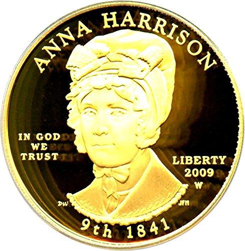 2009 W $10 First Spouse Anna Harrison Ten Dollar PR69 PCGS DCAM