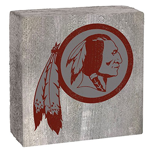 NFL Washington Redskins, Gray Background Team Logo Block by Rustic Marlin 6