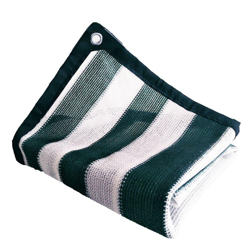 HAIPENG Schattierungsnetz Plane Blatt Bodenbedeckungen Verdicken Verschlüsselte Mesh Wärmeisolierung Sonnencreme Schwerlast (Farbe   Dark Grün+Weiß, größe   1.8x8m)