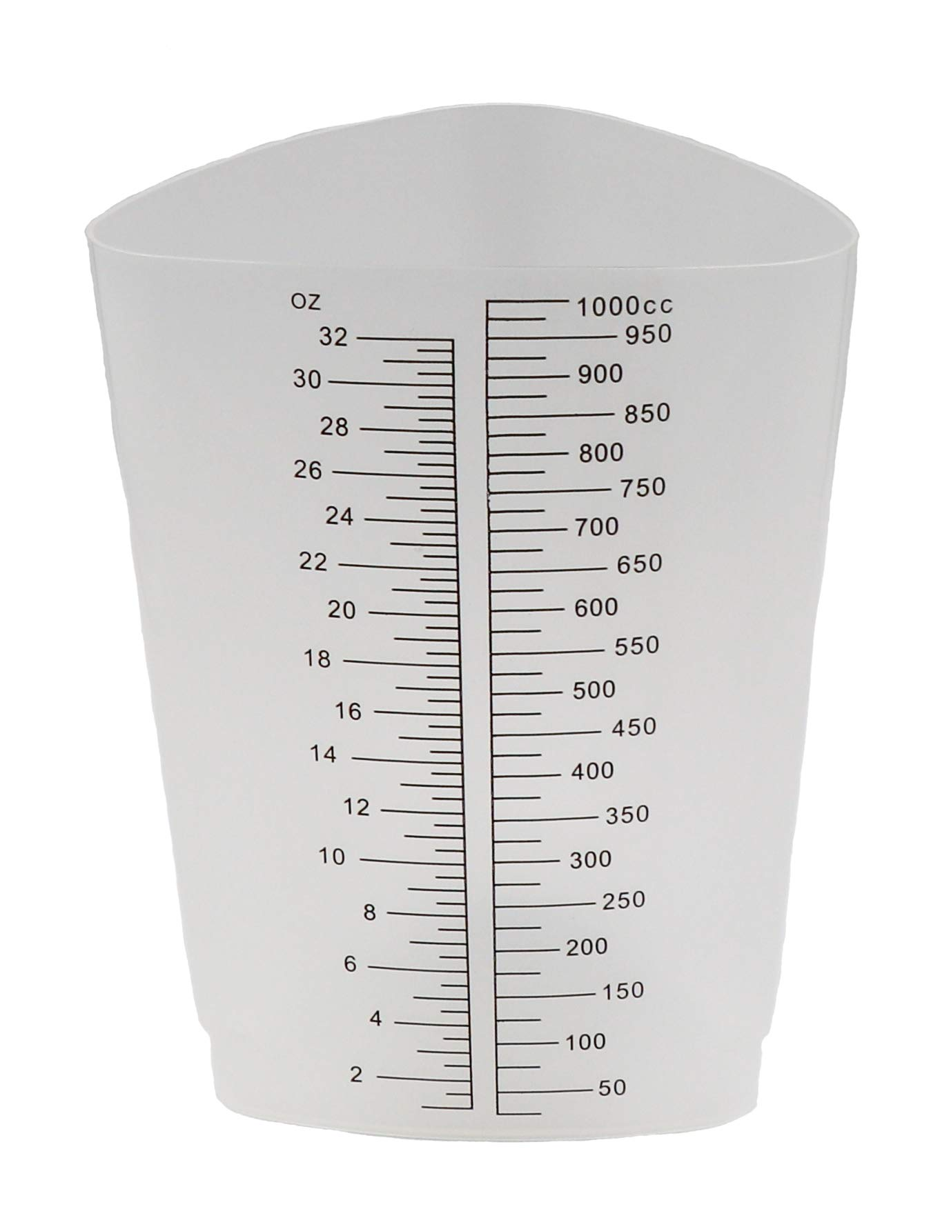 Graduated Triangular Polypropylene Laboratory Container 32oz/1000cc - Pack of 10