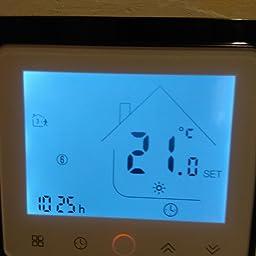 Qiumi Termostato Wifi para calefacción individual de calderas de gas/agua funciona con Amazon Alexa, Google Home IFTTT, Contacto seco, 5A 95~240V AC: Amazon.es: Bricolaje y herramientas