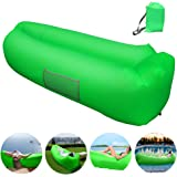 Inflatable Lounger, Inflatable Couch Hammock with Storage Pocket Water Proof& Anti-Air Leaking Air Lounger Portable Air Sofa Inflatable Chair for Indoor or Outdoor Use, Camping, Beach