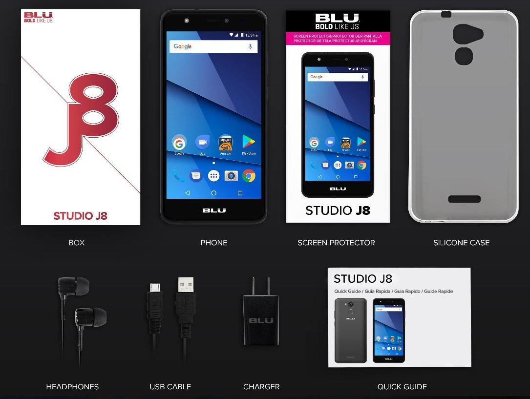 amazoncom blu studio j8 55 hd unlocked smartphone 8gb 1gb ram rose gold cell phones accessories