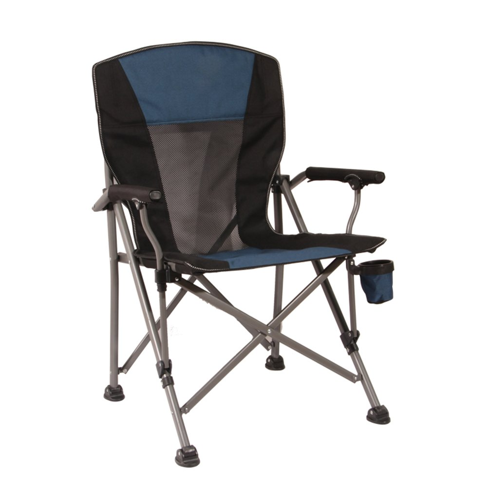 屋外折りたたみ椅子ポータブルビーチチェアベアリング300キロスツールディレクターチェア釣り椅子レジャーチェアテーブルブルーグリーン B07C2P94L4  青