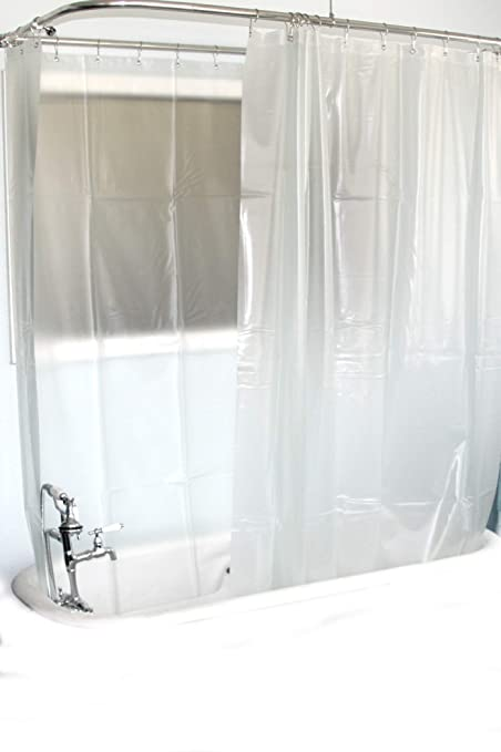 Amazon DL Extra Wide Vinyl Shower Curtain For A Clawfoot Tub