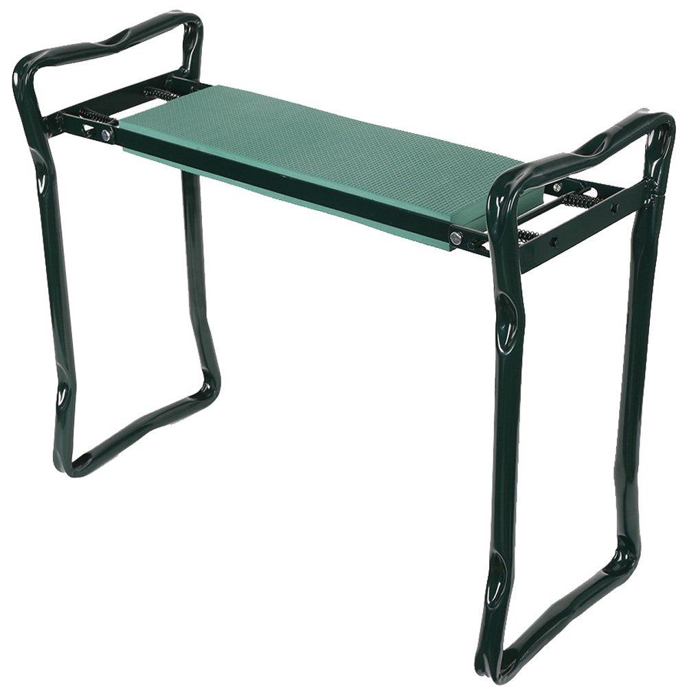 KARMAS PRODUCTS Foldable Heavy Duty Steel EVA Garden Kneeler Stool Green