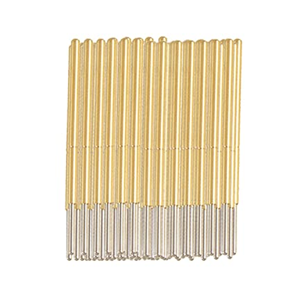 uxcell 100 Pcs Spherical Radius Tip Spring Test Probes Pin